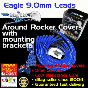 Eagle-9mm-Around-Rocker-Cover-Ignition-Spark-Plug-Leads-Fits-Cleveland-Mounts