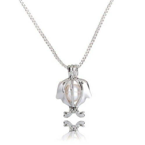 1Pc Natual Pearl Necklace Pendant Freshwater Cultured Pearl Oyste Hollow Cage