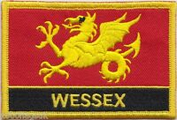 Wessex Region Flag Embroidered Patch Badge - Sew or Iron on