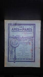 Revista Dibujada Las Amis De París N º 20 Mensual 1913 Gerente Claude Simond ABE