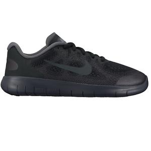 0fcb31cdd7b3ae Image is loading Nike-Free-Run-2017-GS-Black-904255-001-