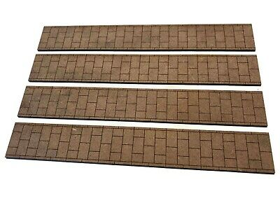 Appena 4 X Laser Cut Mdf Pavement Strips For O Scale 1:43 Model Railway - Lx217-o