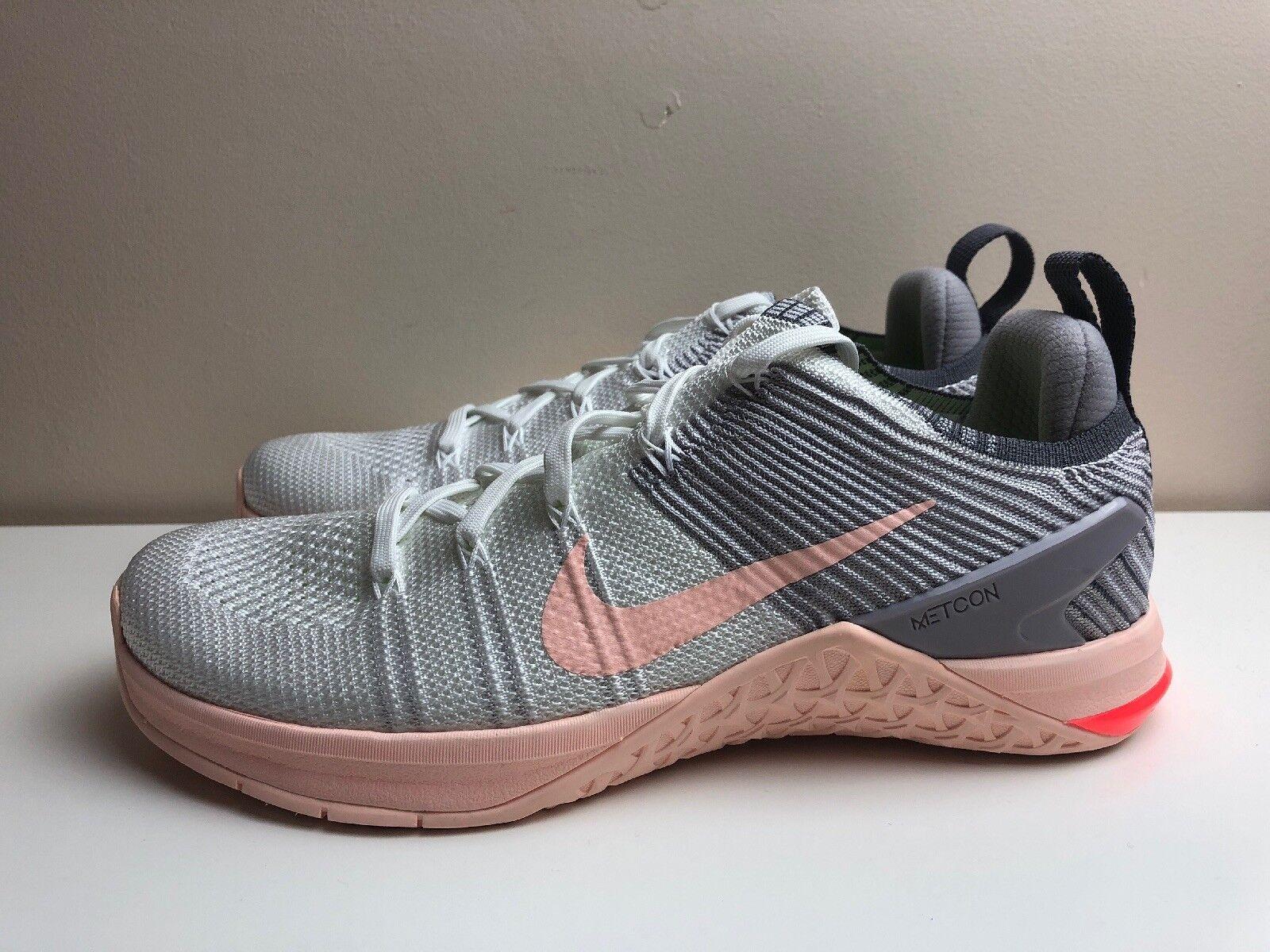 Nike Metcon DSX Flyknit Crossfit 2 pour femme UK 7 EUR 41 blanc gris 924595 102