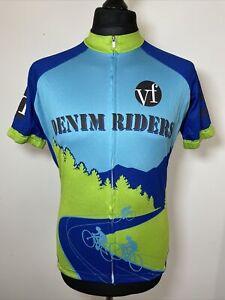Peak 1 Sports Denim Riders Lee & Wrangler Cycling Jersey Short Sleeve Shirt M