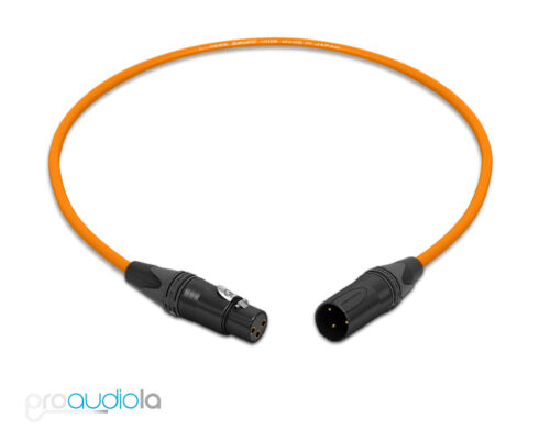 Canare Quad Cable L-4E6SNeutrik Gold XLR-F XLR-MOrange 2 Feet2 Ft.2/'