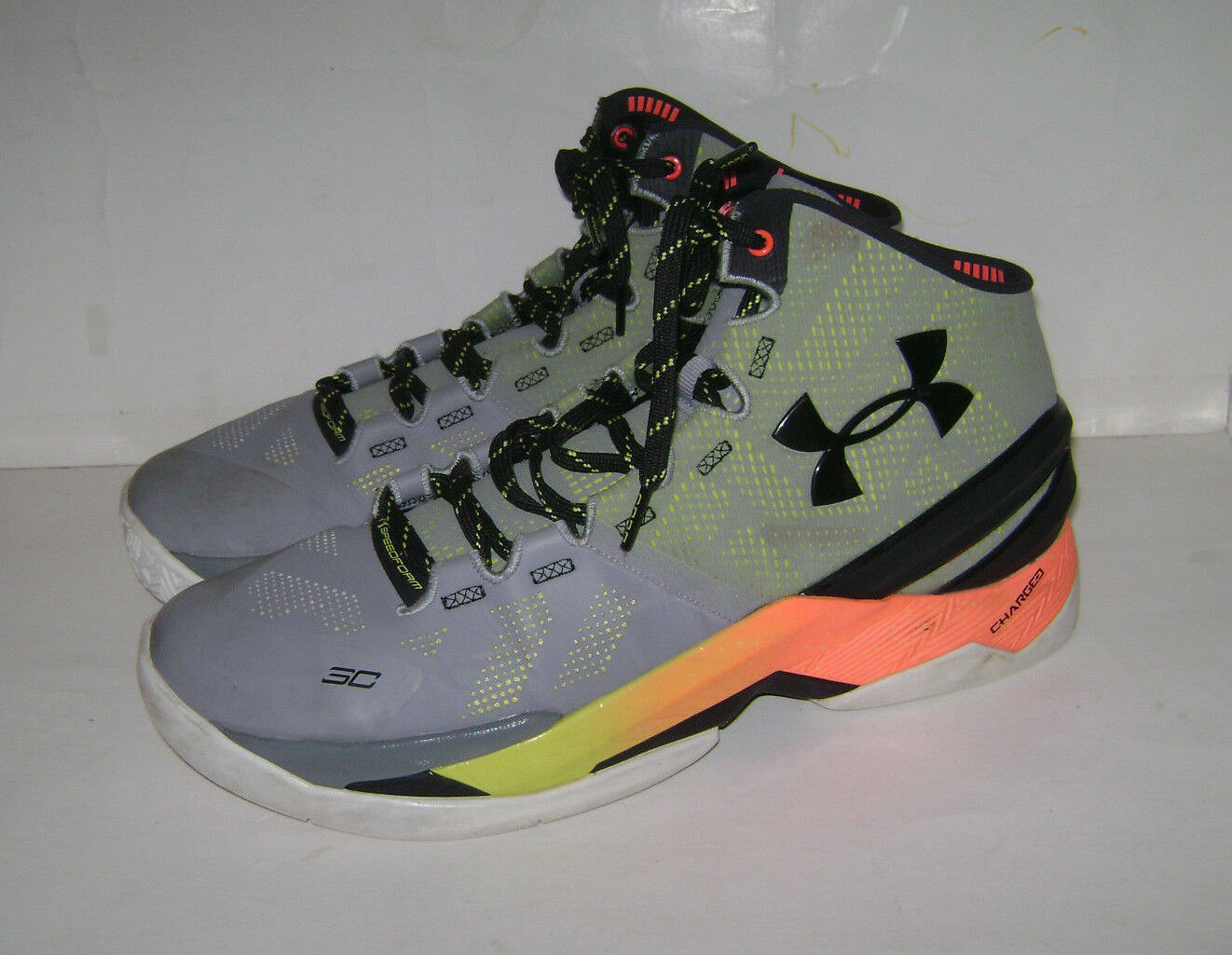online store edc21 f4ef9 UA UNDER UNDER UNDER ARMOUR Curry Two Iron Sharpens Men Shoes Sneakers Size  11.5 1259007 035