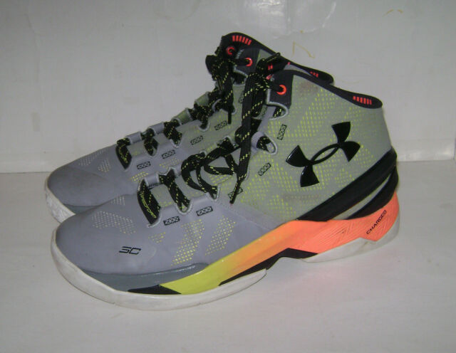 1259007-035 Under Armour UA Curry 2 Basketball Shoes Iron Sharped Iron SZ