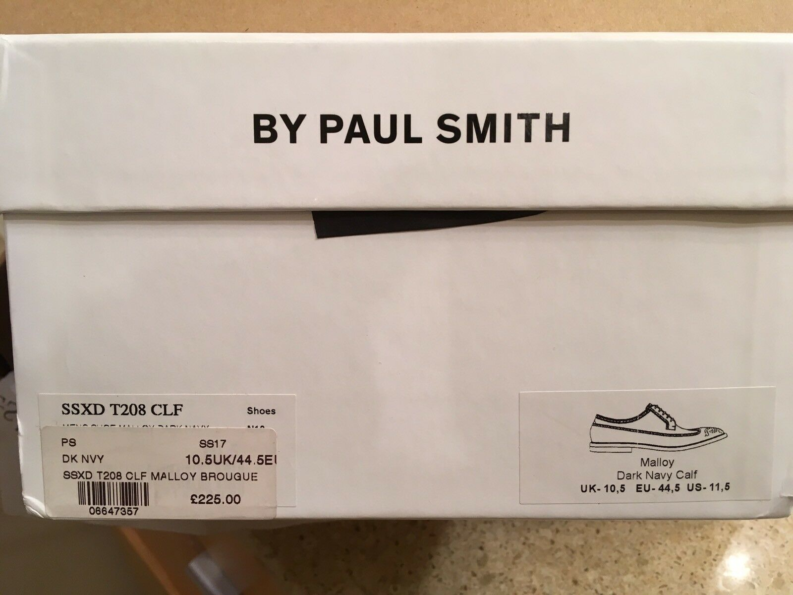 NIB Paul Smith Leather  575 PS Blau Leather Smith Mallory brogues. US 11.5 Made in  1 2 9c4182