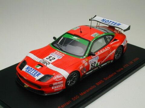 rouge LINE 1 43 FERRARI 550 MARANELLO BMS Scuderia Italie LM 24 2005  52 du Japon
