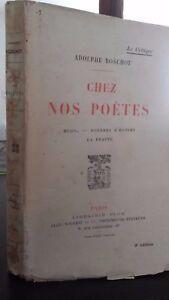 Adolphe Boschot Casa NOS Poeti Parigi Plön 1925 Spilla ABE 3E Edit