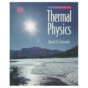 An introduction to thermal physics by daniel v schroeder 1999 an introduction to thermal physics by daniel v schroeder 1999 hardcover fandeluxe Image collections