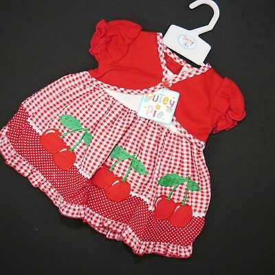 Süßes 2 Tlg. Mädchen Sommer Kleid (kirsche) Gr.74,80,86 Kataloge Werden Auf Anfrage Verschickt