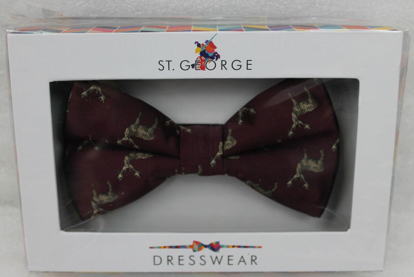 St.George Dressware Designer Nœud Rouge Foncé avec avec Foncé des Cerfs 401040 Neuf 92adf2