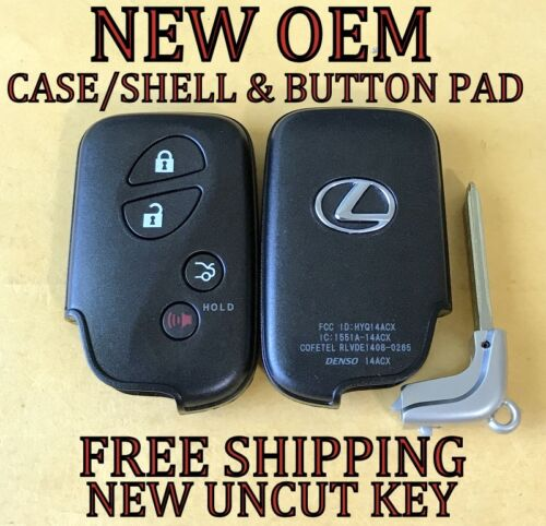 NEW OEM LEXUS SMART PROXIMITY KEYLESS REMOTE FOB REPLACEMENT CASE SHELL /& PAD