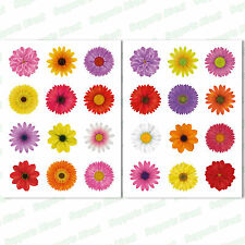 24 Beautiful Flower Window Clings Non-adhesive Stickers Stop Bird Glass Strikes