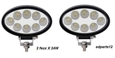 2X 12V 24V 36W LED FEUX DE TRAVAIL LAMPE PUISSANT POUR CHARIOT ELEVATEUR