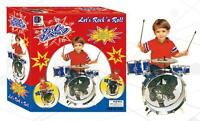 Complete Kids Toy Drum Set With Drums Cymbal Sticks Chair Musical 24 Inch
