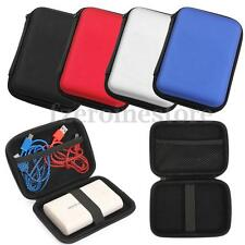 2.5'' USB Hard Drive Disk HDD Carry Case Cover Pouch Bag Double Zipper 4 Colors