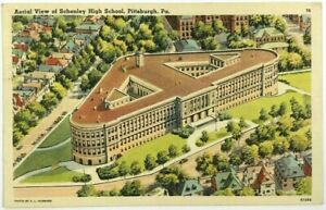 Aerial-Bird-039-s-Eye-View-Schenley-High-School-Pittsburgh-Pennsylvania-PA-Postcard