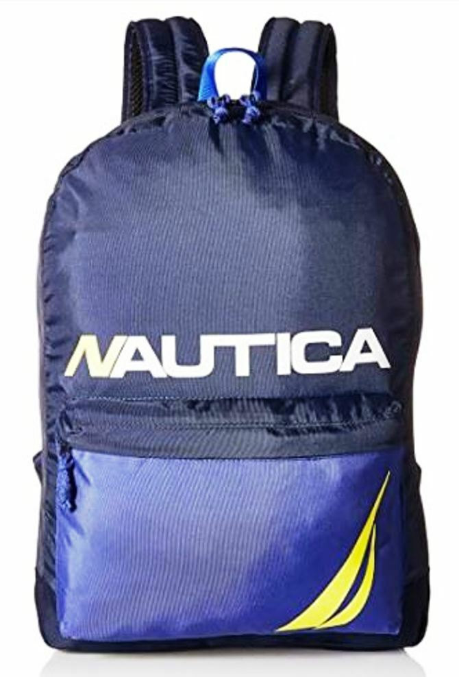 Nautica Blue Backpack NB0044/17 w/ Padded Laptop Pocket NEW Free Shipping!