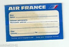 Autocollant sticker Air France étiquette de bagage 1977 Aéronautique