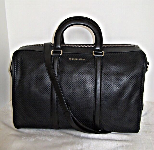 880bfc2557a239 Michael Kors - Libby Large Leather Gym Bag - Black