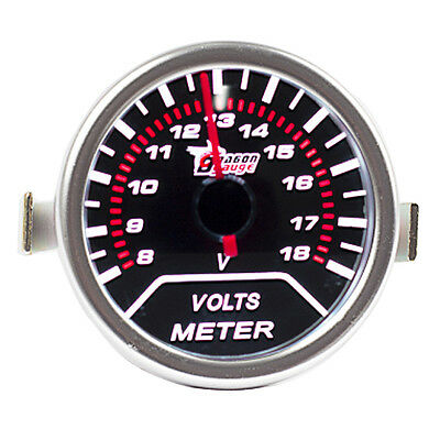 "12V Car Universal Pointer Smoke Tint Len 2"" 52mm Volt Voltage Gauge Meter Dials"