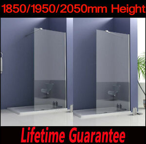 Image is loading Walk-In-Shower-Enclosure-Wet-Room-Tall-Cubicle-