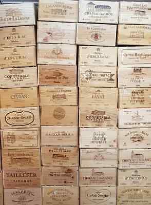 Scatola In Legno Vino Crate. 12 Flacone. Francese Originale Di Stoccaggio Cassetto Fioriera Cesto-mostra Il Titolo Originale Prima Qualità