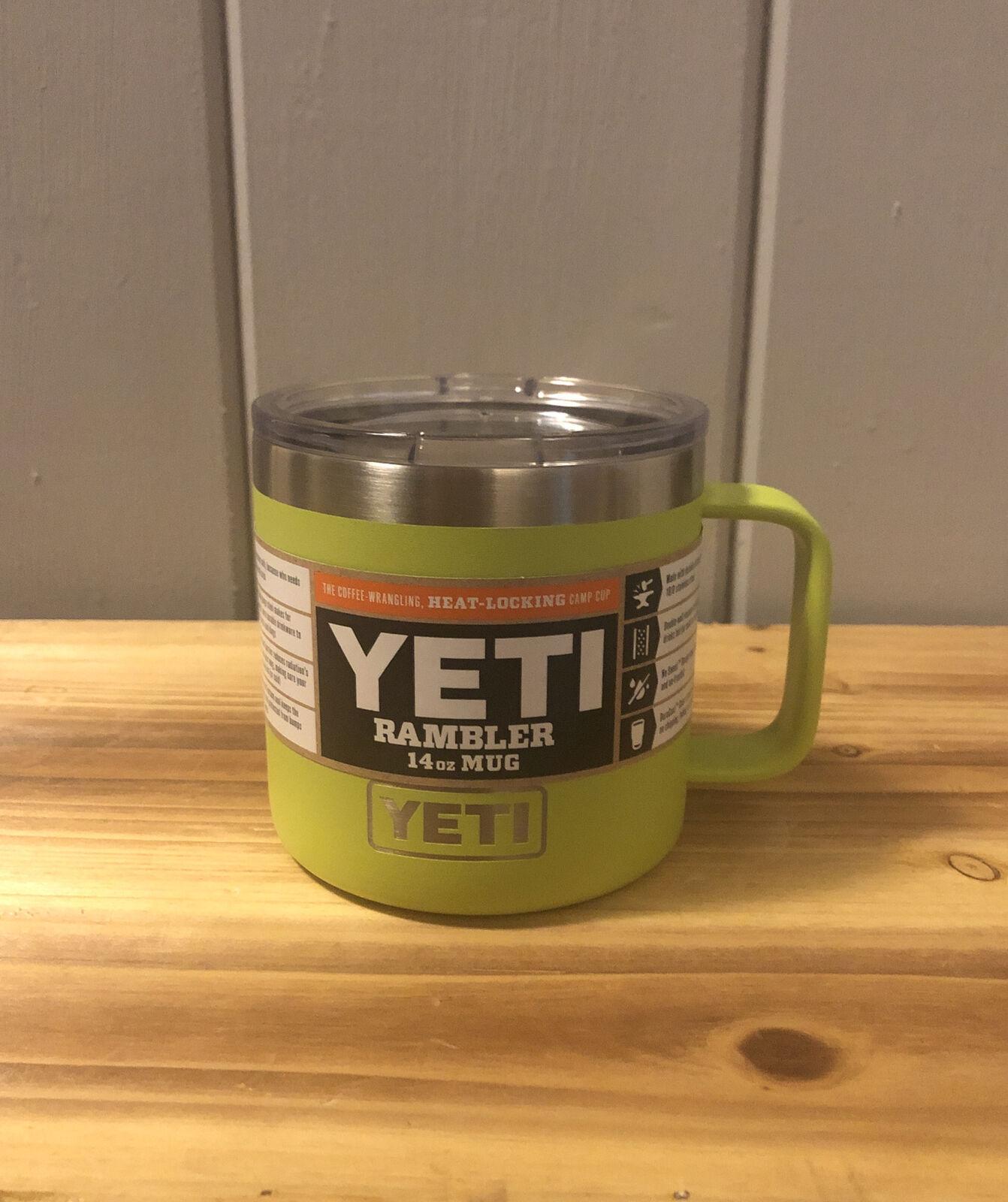 Yeti Rambler Harbor Pink Mug Stainless Insulated Cup Tumbler 14oz Lid Ymug14 For Sale Online Ebay