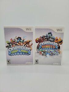 Lot Of 2 Activision Nintendo Wii U Skylanders Swap Force And Giants Video Game