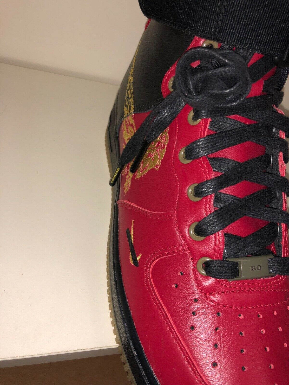 Nike Air Force 1 1 1 High by maharishi nero rosso, 42 EU, New 915a2f