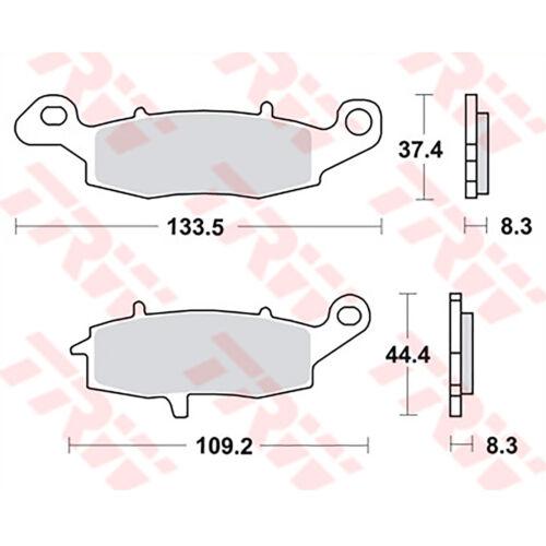 EJ800A 11-16 1x TRW Bremsbeläge vorne Kawasaki W 800