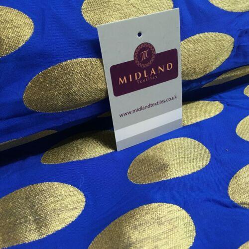 Ovale Or Spot Indian Banarsi brocart Gilet tissu 124 cm large M1097 Mtex