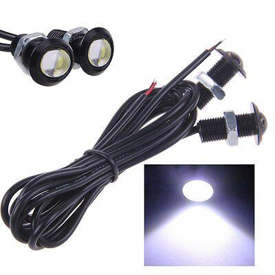 2x 9W LED Eagle Eye Backup Light Foglight White Light Car Trucks Black cover