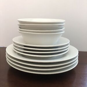 IKEA-218-78-White-Dinnerware-Set-of-4-Dinner-Plates-9-3-8-034-Salad-Plates-amp-Bowls