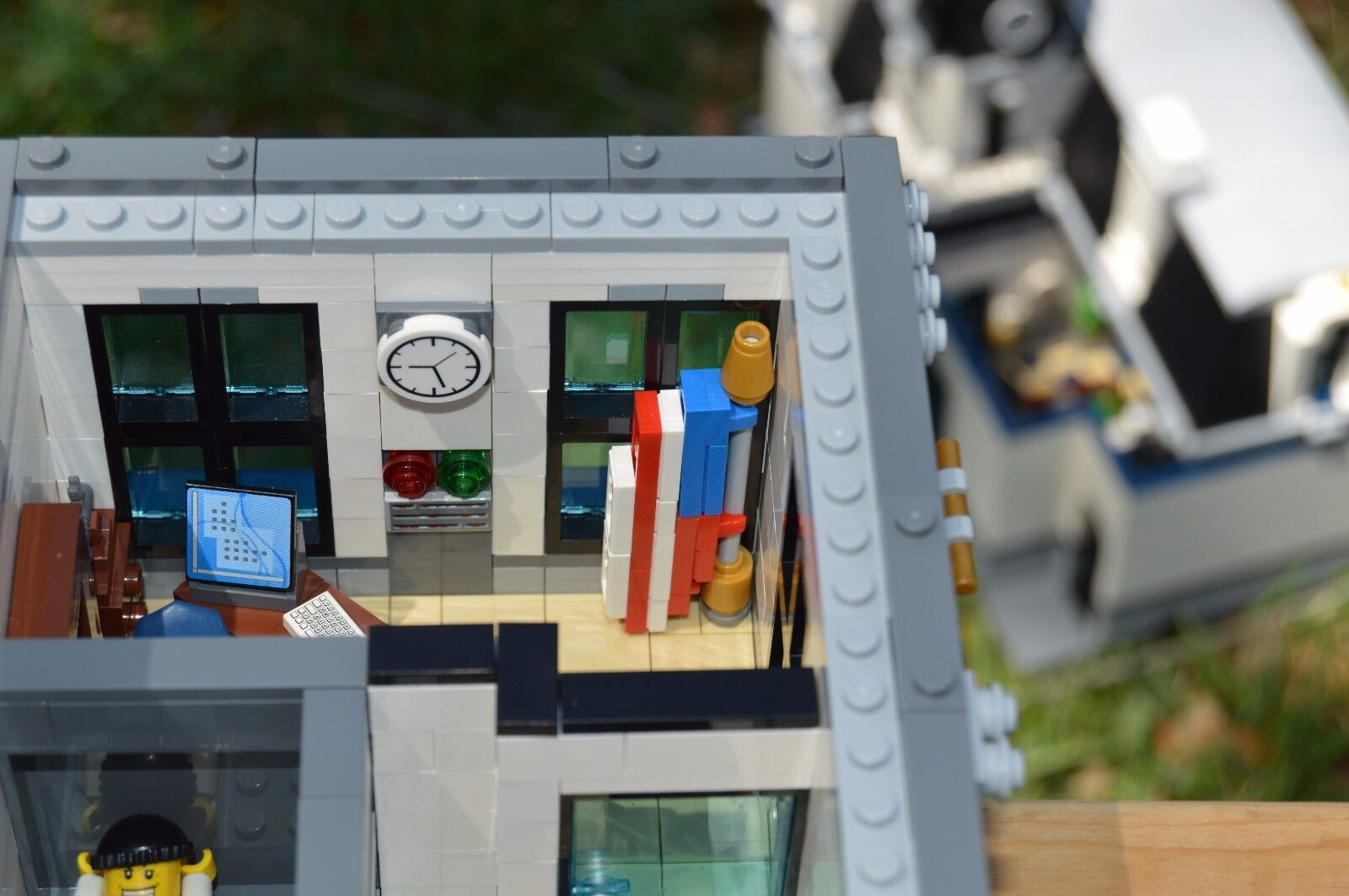 Lego Custom Modular Building Police Headquarters Instructions Only