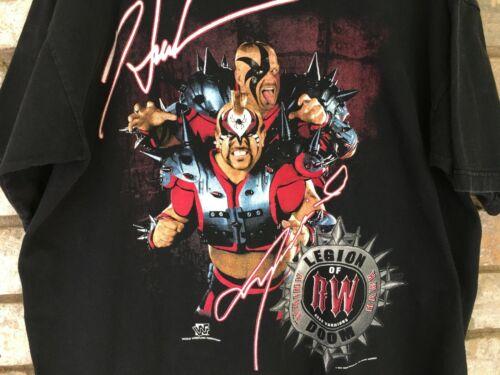 Vintage Road Warriors Tee Hawk Animal WWE World Wr