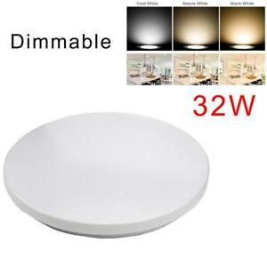 Dimmable-LED-Ceiling-Panel-Light-Flash-Mount-Lamp-32W-Home-Bedroom-Downlight-YC