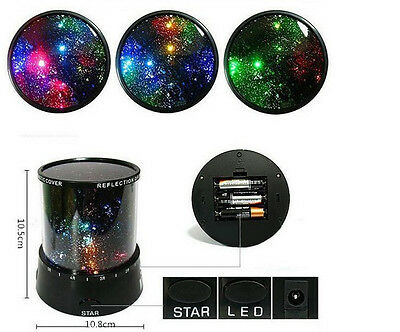 Kids LED Starry Night Sky Projector Lamp Star light Cosmos Master Romantic JT56