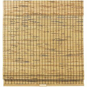 Cordless Woven Wood Bamboo Roman Shade- 2 Colors - Free Shipping