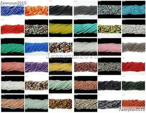 Natural-Gemstones-2mm-amp-3mm-Round-Spacer-Seed-Beads-15-5-039-039-Jewelry-Design-Crafts