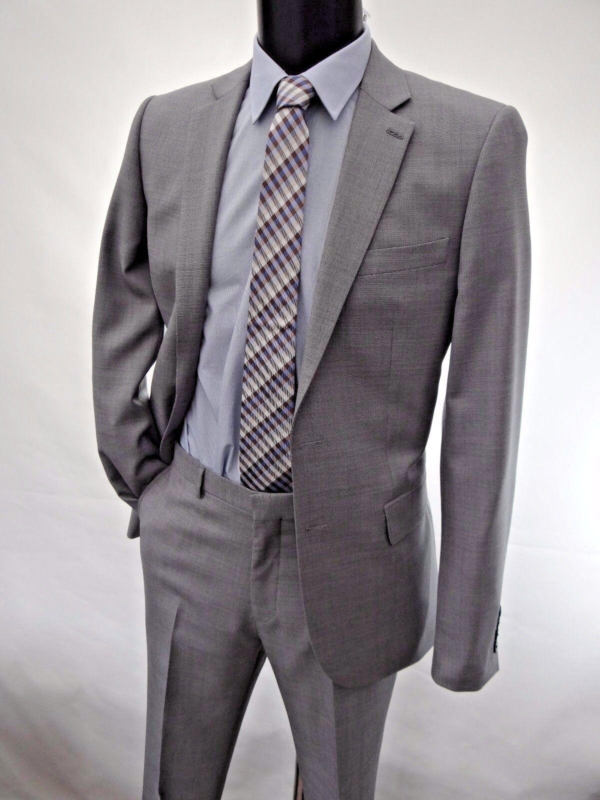 Jaeger Gris Gris Jaeger Moyen Moderne Fit Costume Tailles UK 36 L BNWT RRP £ 349 51b0fe