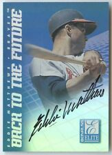 Eddie Matthews Chipper Jones 1998 elite back to the future dual auto SP 98/1500