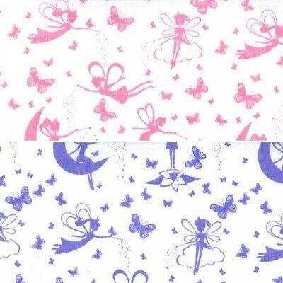 Polycotton Fabric Fairies Fairy Princess Godmother Magic Wand Butterflies