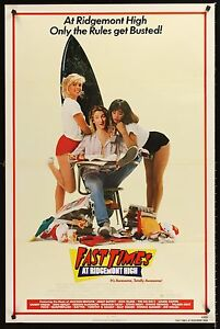 FAST TIMES AT RIDGEMONT HIGH 1982 Movie Poster 27x41 #CameronCrowe #MoviePoster