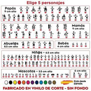 5X-MIEMBRO-FAMILIA-A-BORDO-PEGATINA-VINILO-ADHESIVO-PERSONAJE-COCHE-STICKER-CAR