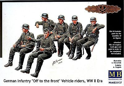 """Master Box MB 1/35 35137 """"Off to the front"""" WWII German Infantry Vehicle Riders"""