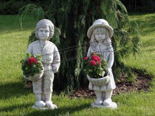 Figur Blumenkübel Pflanz Kübel Dekoration Figur Blumentöpfe Garten Vasen S101084