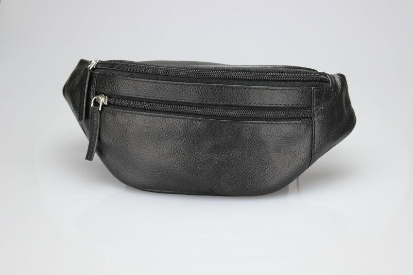Leder Gürteltasche Bauchtasche Hüfttasche Hüfttasche Hüfttasche schwarz XXL Bauchgurt extra lang 175cm 4a6ea2
